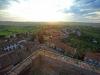 veduta panoramica dalla Torre del cassero, al tramonto, il lato occidentale